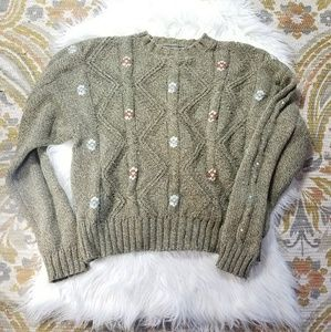 Liz Claiborne Sweaters - Vintage Chunky Cropped Knit Sweater